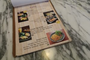 Menu of The Lucky Room